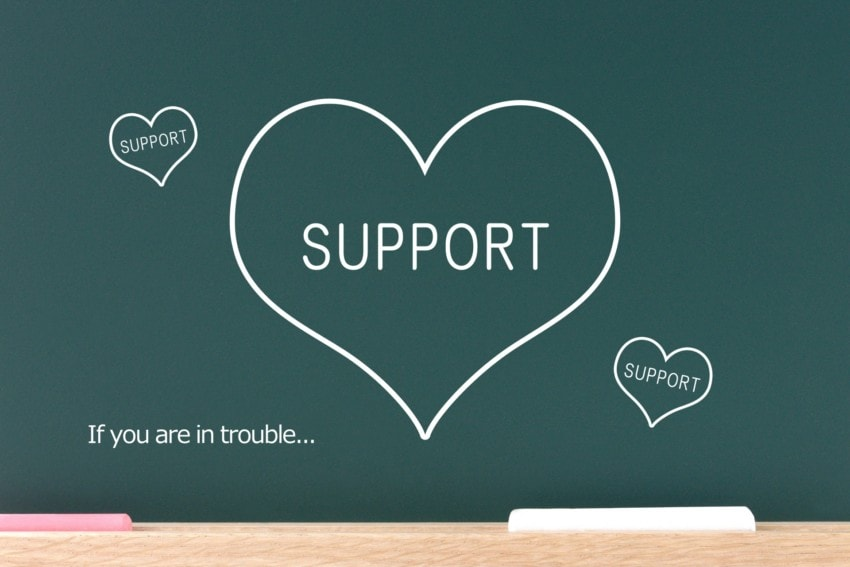 サポートの画像