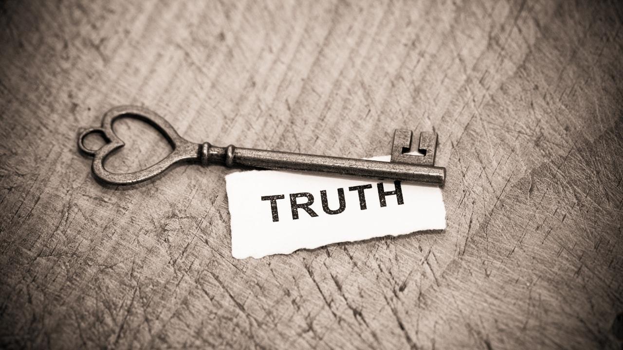 鍵に真実を書いてある画像