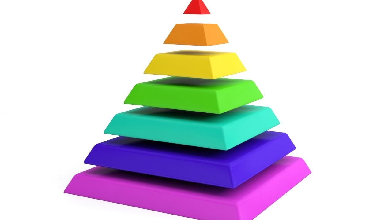 カラフルなピラミッドの画像