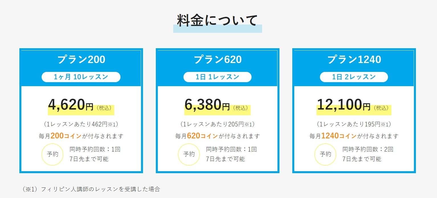 産経オンライン英会話Plusの料金プランとコース一覧