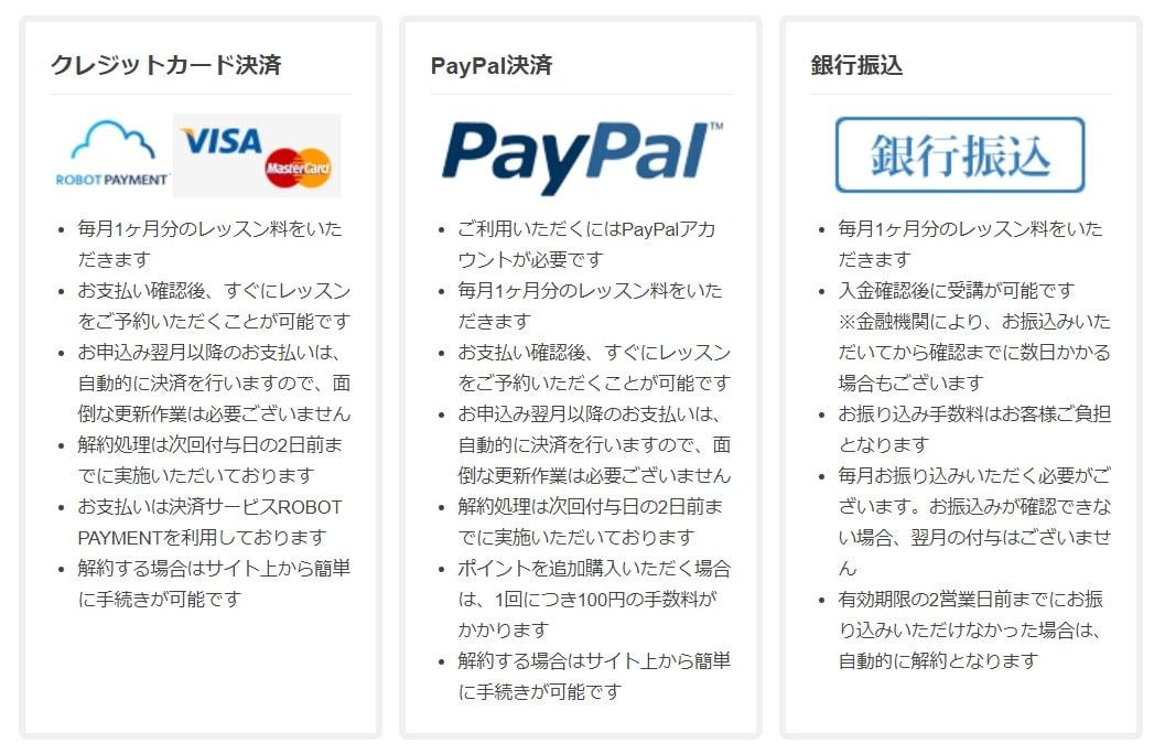 Worldtalk(ワールドトーク)の支払い方法
